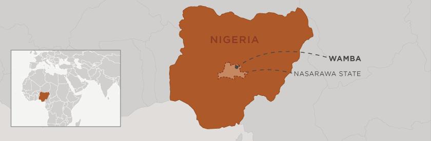 Map of Wamba, Nigeria