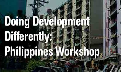 doing development differently philippines