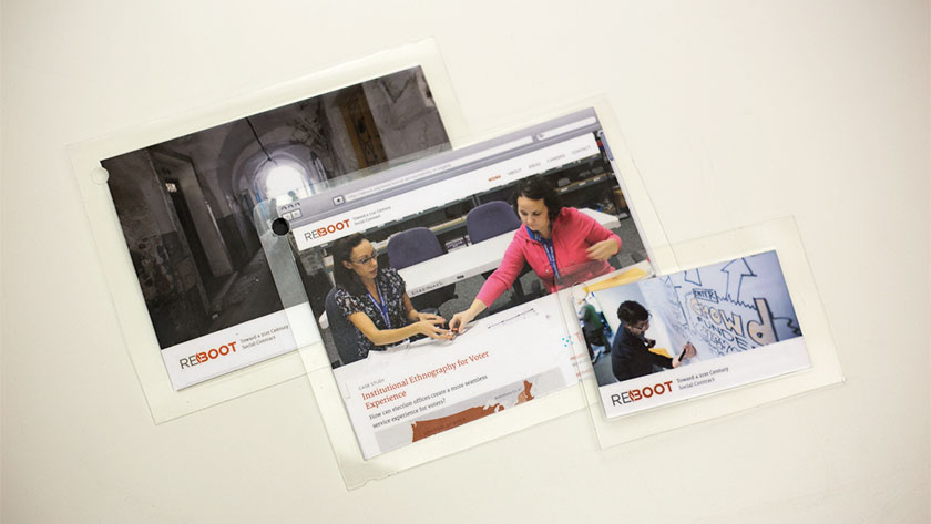 Printed cards showing examples of acceptable photos.