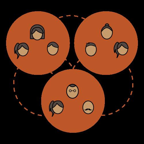 Icon of teams collaborating